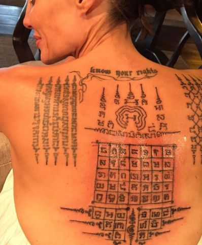 angelina jolie sak yant thai tattoo what are the meanings