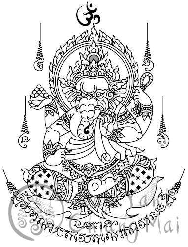 Ganesh Sak Yant Meaning