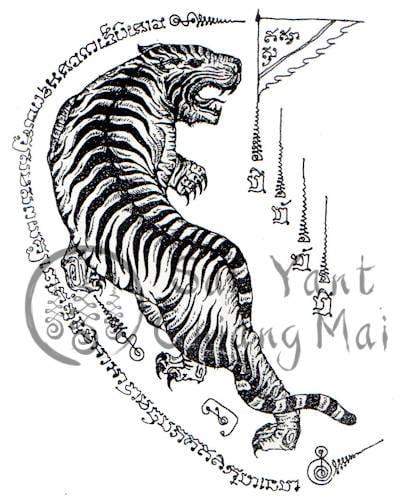 Tiger Looking Back Sak Yant Meaning
